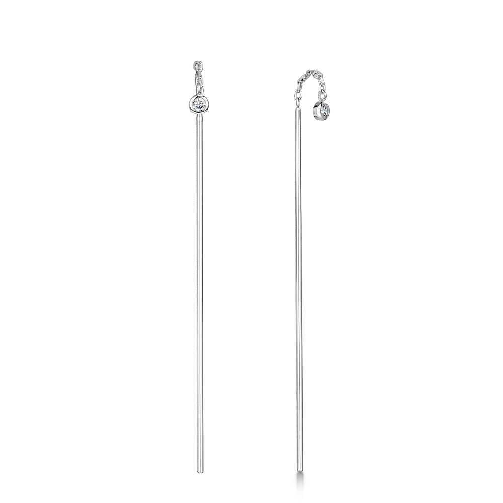 Freya Drop Earring - Rhodium