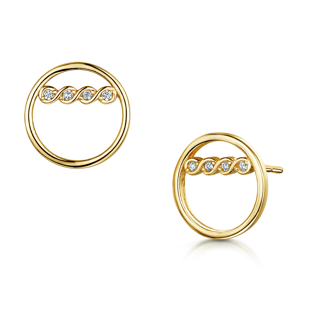 Freya Earring - Yellow Gold