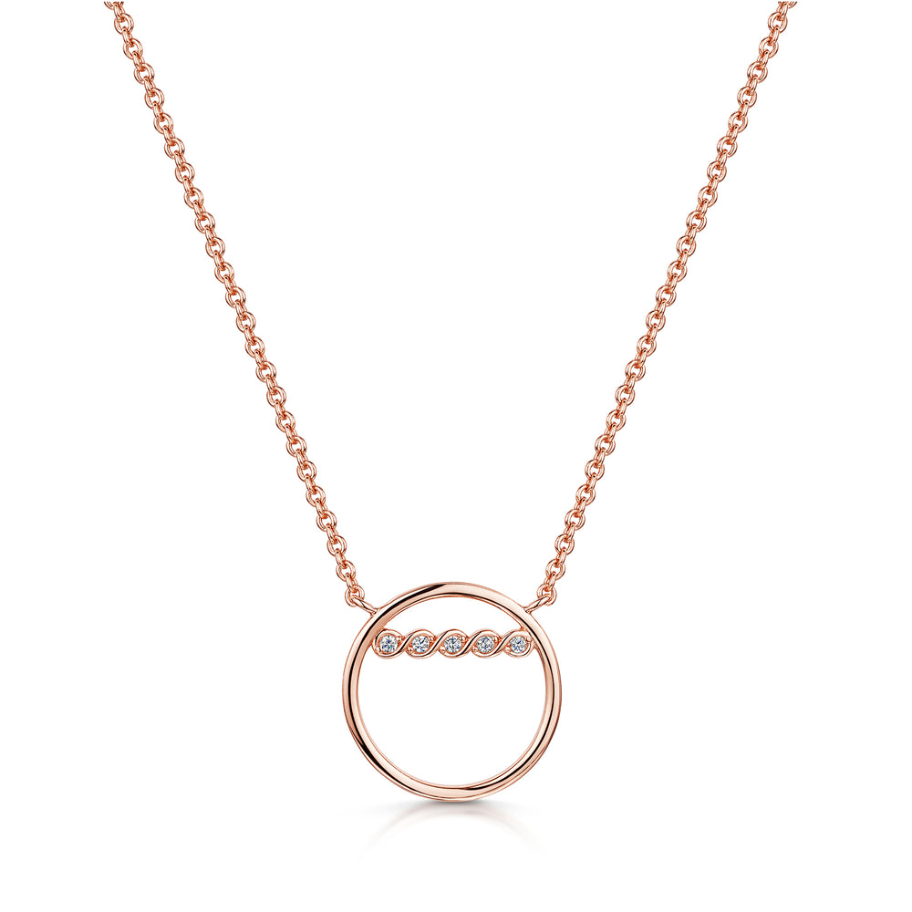 Freya Pendant - Rose Gold