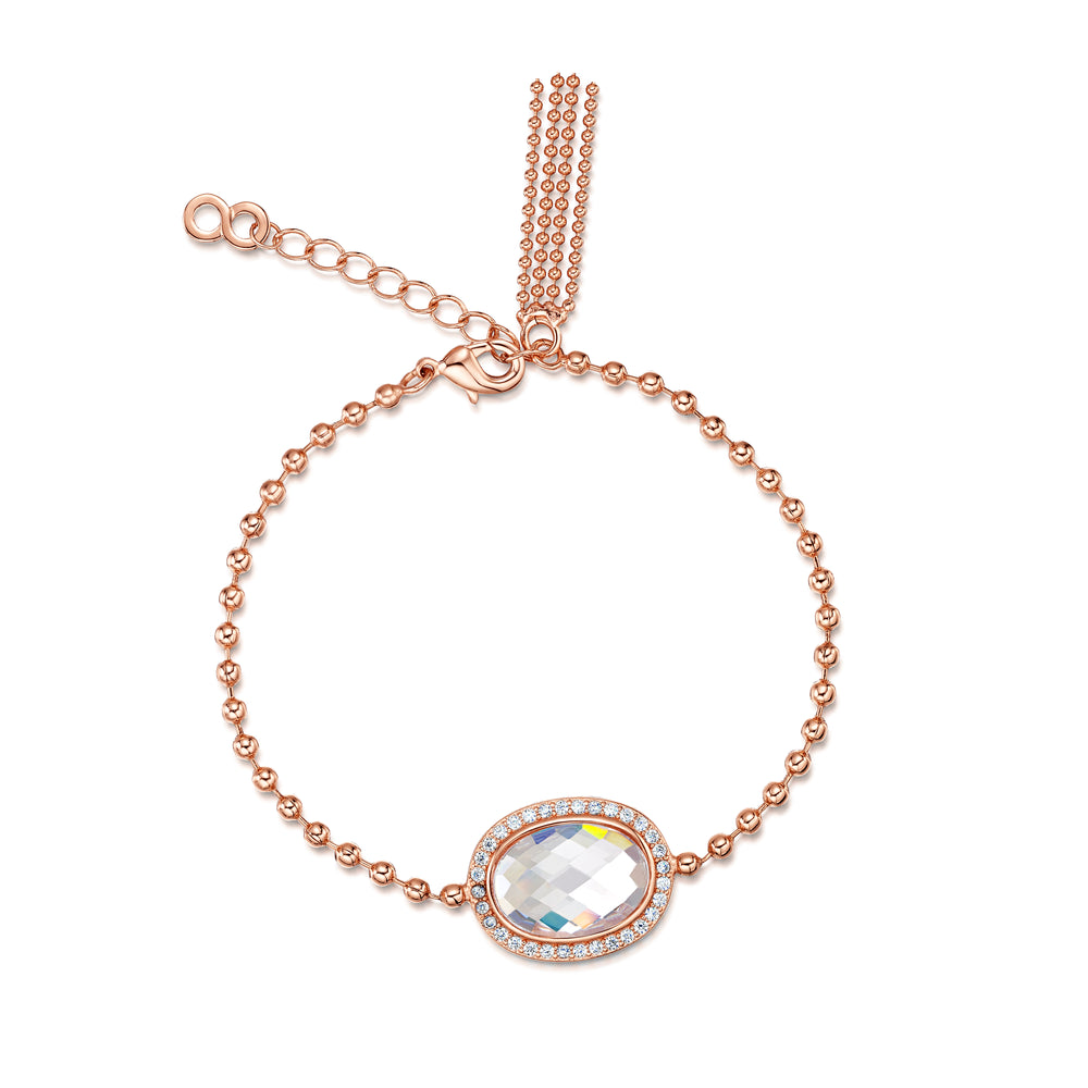 Kathryn Necklace, Bracelet and Earring Set Rose Gold