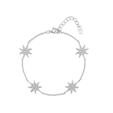 rhodium star bracelet