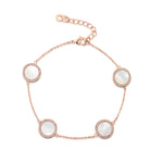 Darcy Bracelet - White/Rose Gold