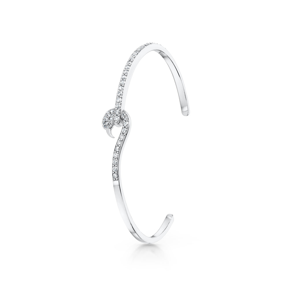 Flamingo bangle Rhodium
