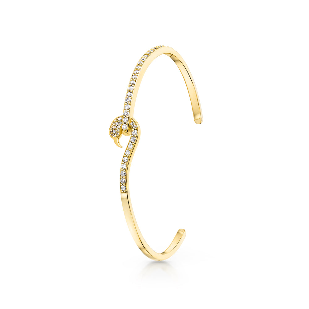 Flamingo bangle Yellow Gold
