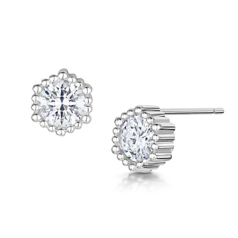Anya Earrings - Rhodium