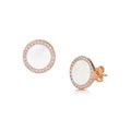 Darcy Earrings - White/Rose Gold