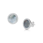 Darcy Earrings - Rhodium/Abalone