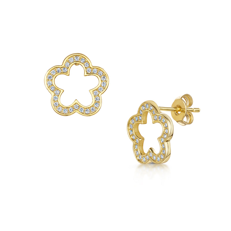 zara earring yellow gold