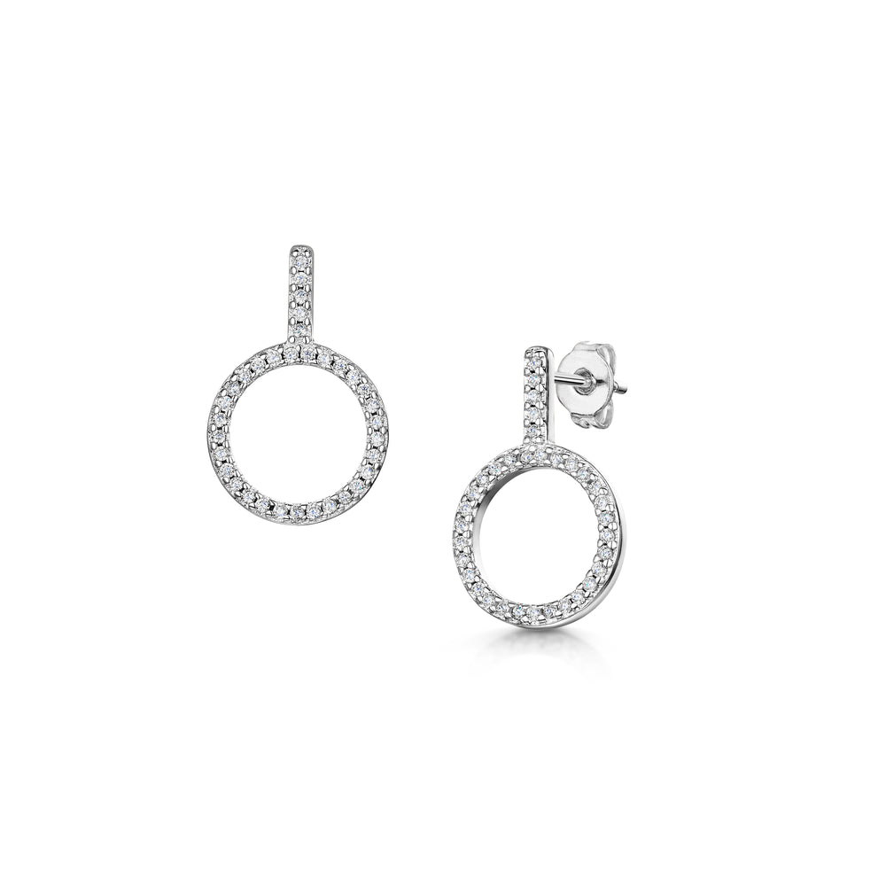 Load image into Gallery viewer, erica earring rhodium