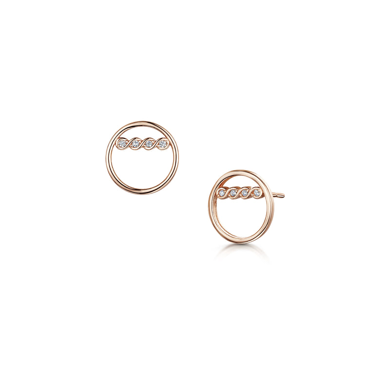 freya earring rose gold