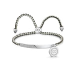 Elizabeth Friendship Bracelet - Rhodium/Grey