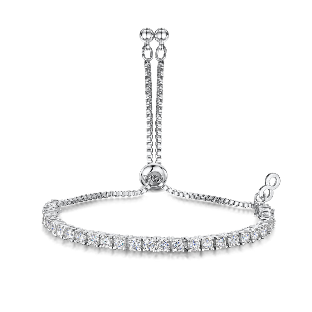 Anya Friendship Bracelet - Rhodium