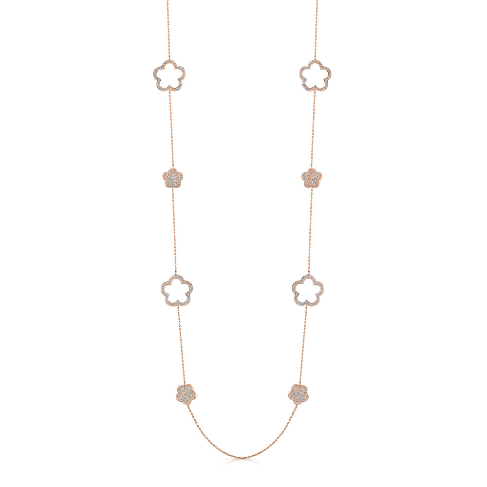 Load image into Gallery viewer, Zara Lariat and Earring Set Rose Gold