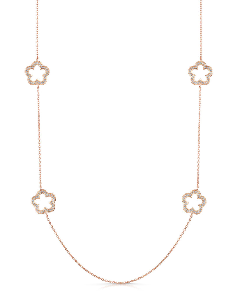zara necklace rose gold