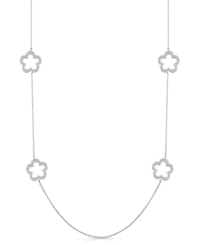 Zara Necklace - Rhodium