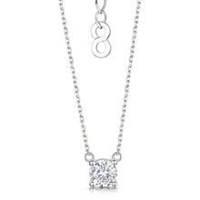 Anya Pendant 4 Claw Setting - Rhodium