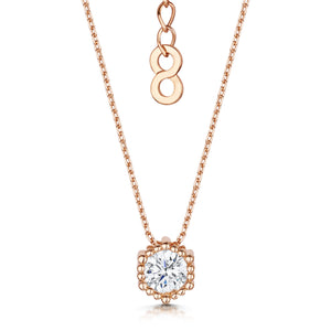 rose gold solitaire pendant