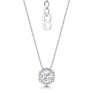 Load image into Gallery viewer, rhodium solitaire pendant
