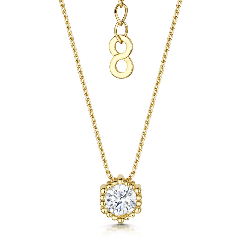 Load image into Gallery viewer, gold solitaire pendant