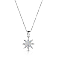 rhodium star pendant