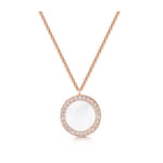 Darcy Pendant - Rose Gold/White MOP