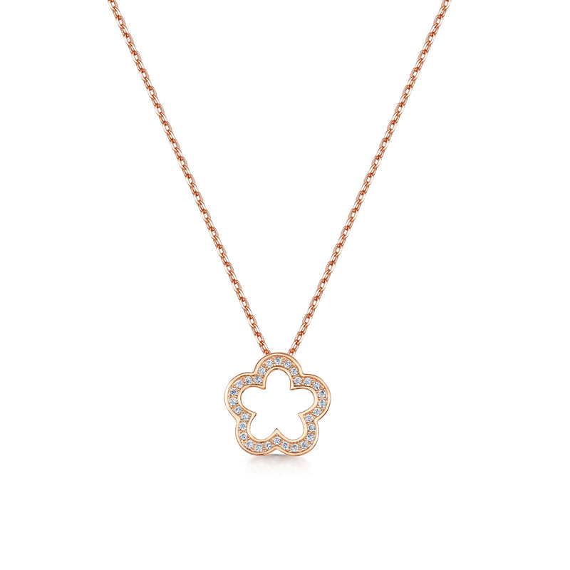zara pendant rose gold