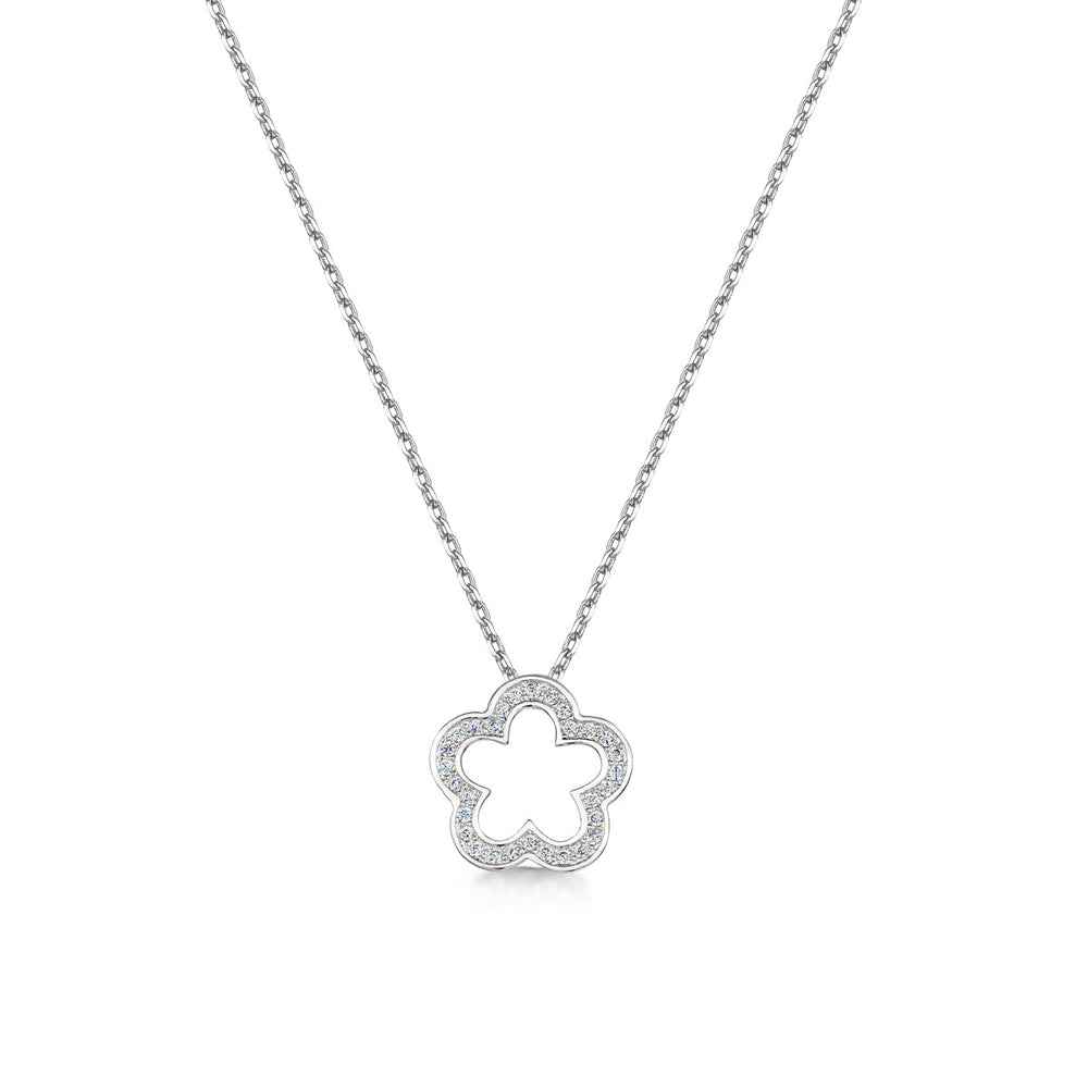 Load image into Gallery viewer, zara pendant rhodium