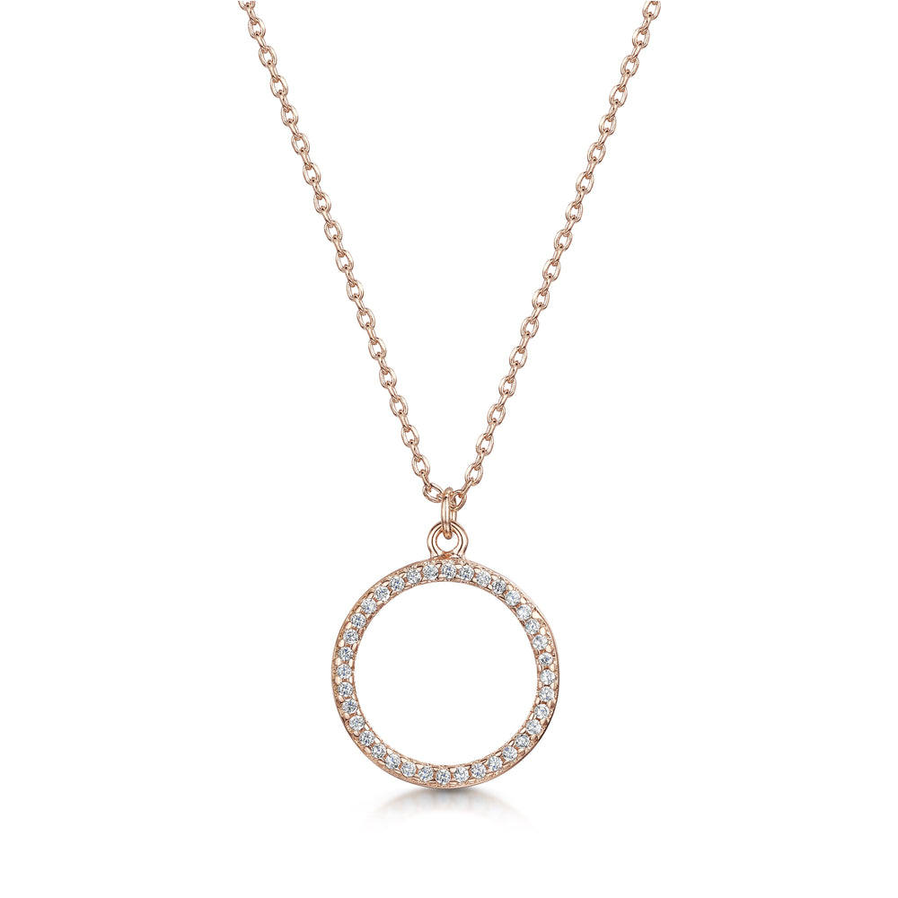 Erica Pendant  / Necklace - Rose Gold