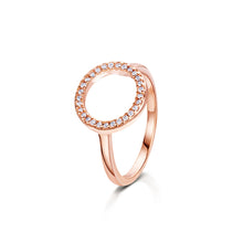 erica rose gold ring