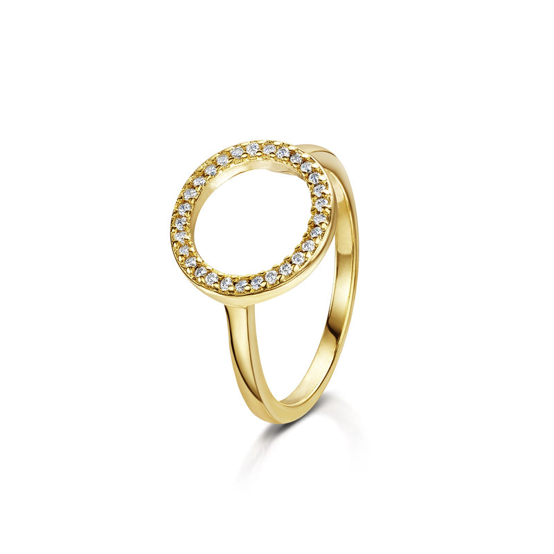 erica yellow gold ring