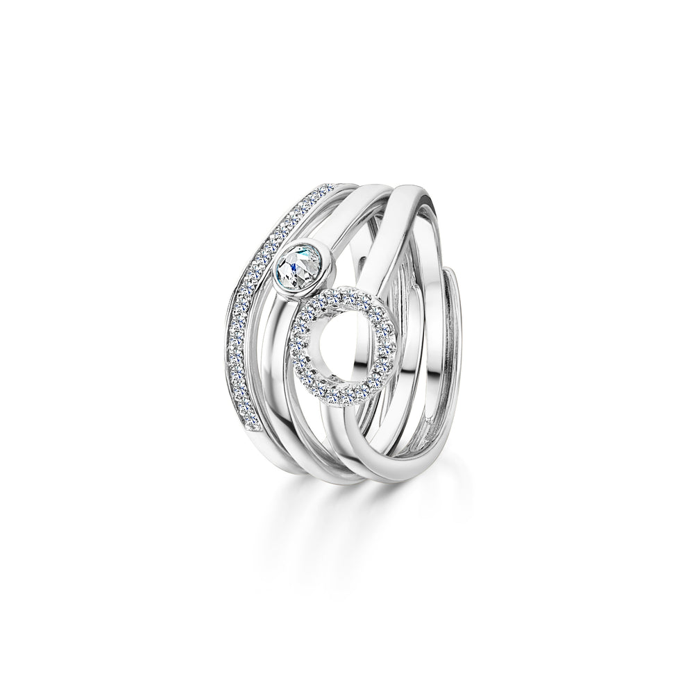 Lexi Stacking Ring Rhodium
