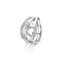 Lexi Stacking Ring Rhodium - Large