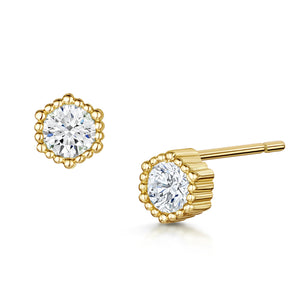 Anya Pendant, bracelet & stud earrings Millegrain - Gold