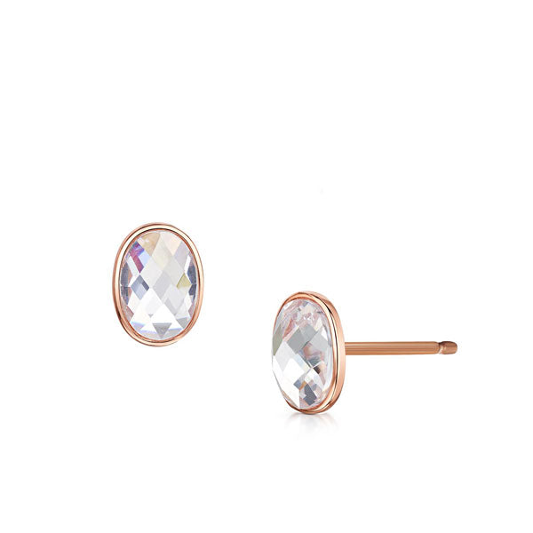Kathryn rose gold stud earrings