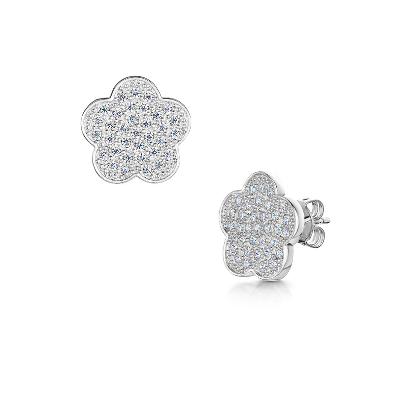 Zara Earrings - Rhodium