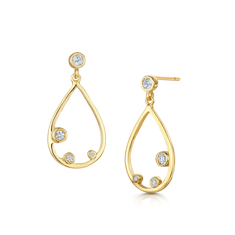 Isabelle drop earrings gold