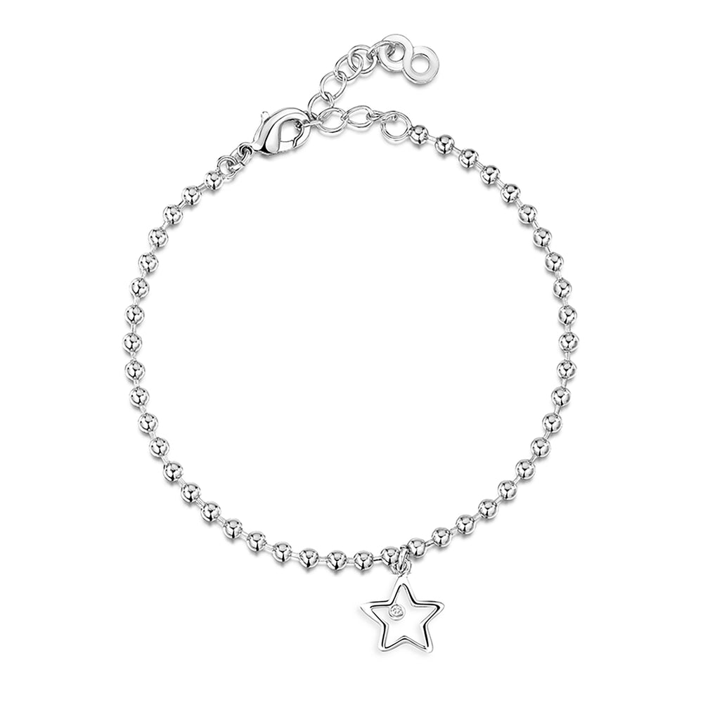 Load image into Gallery viewer, LXI Open Star Bracelet Rhodium