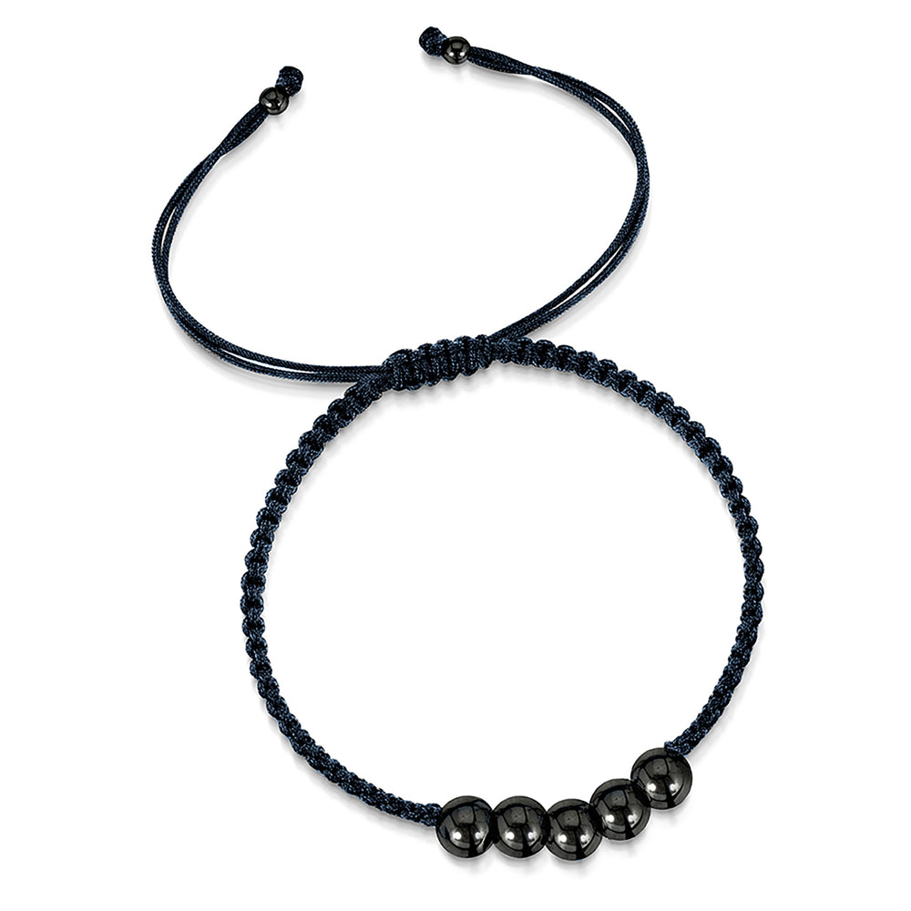 LXI Mens Friendship Bracelet - Black Rhodium