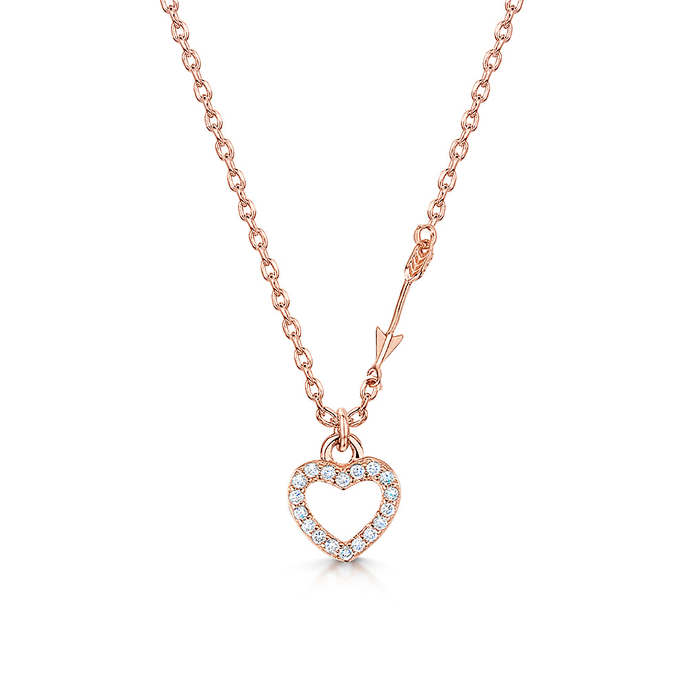 LXI Hearts & Arrows Pendant - Rose Gold