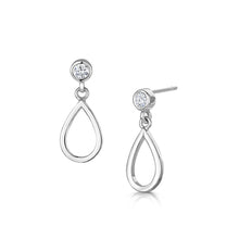 love story drop earrings rhodium