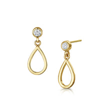 love story drop earrings gold