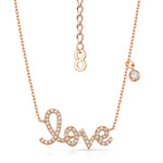 Love Story Necklace and Earring Set Rose Gold