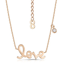 love story polished pendant rose gold