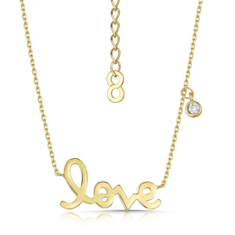 love story polished pendant gold