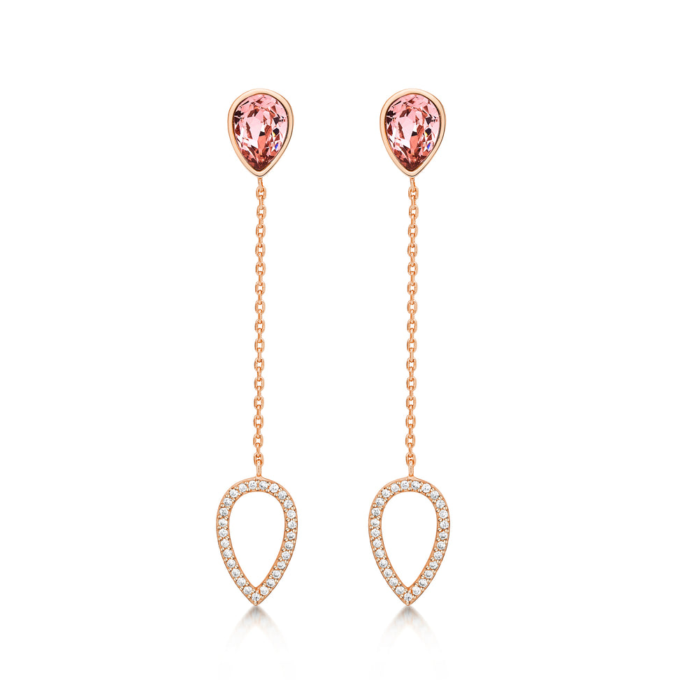 Load image into Gallery viewer, Matilda Drop Earrings- Rose Gold
