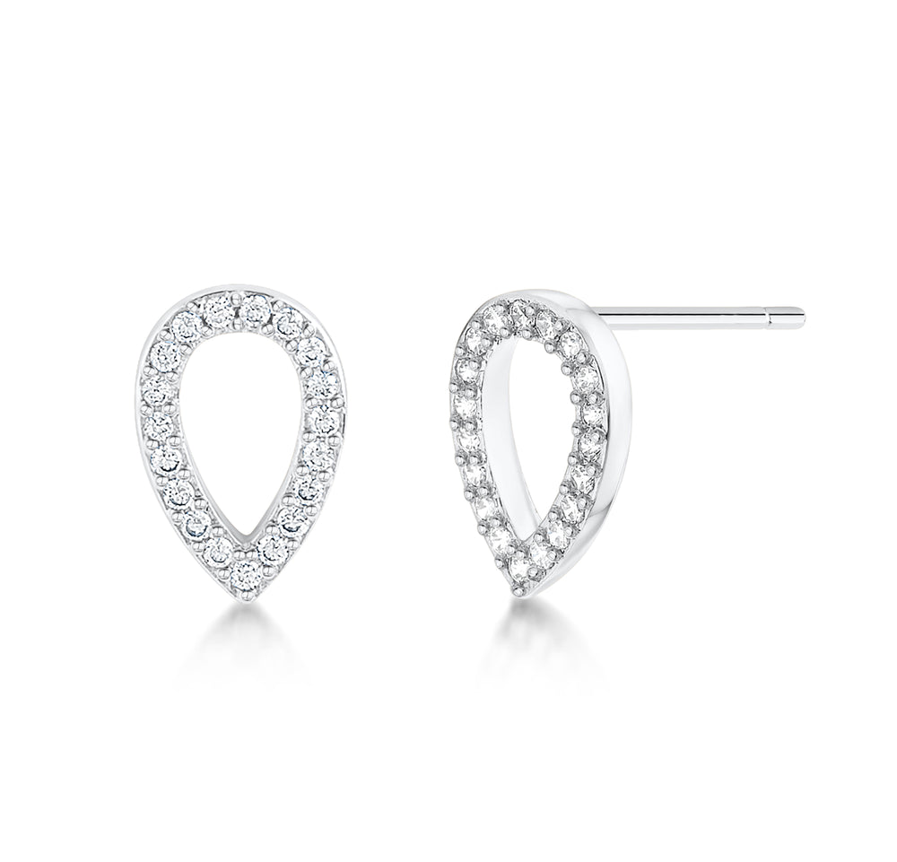 Load image into Gallery viewer, Matilda Earrings- Rhodium