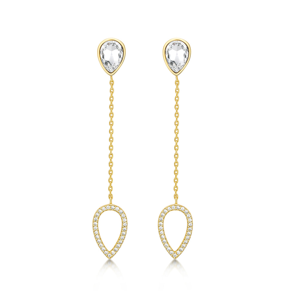 Load image into Gallery viewer, Matilda Drop Earrings- Gold
