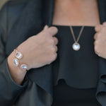 Kathryn Pendant, Cuff and Earring Set Rose Gold