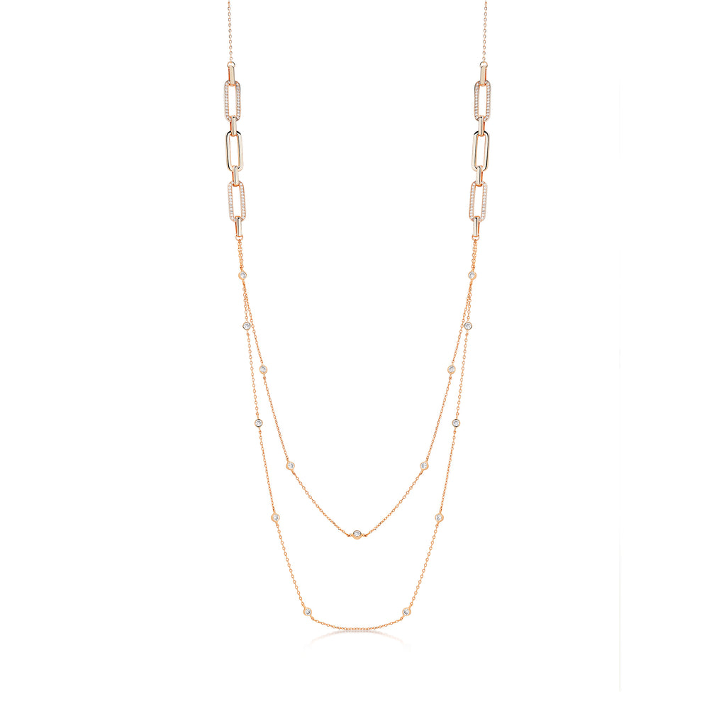 Milly Necklace- Rose Gold