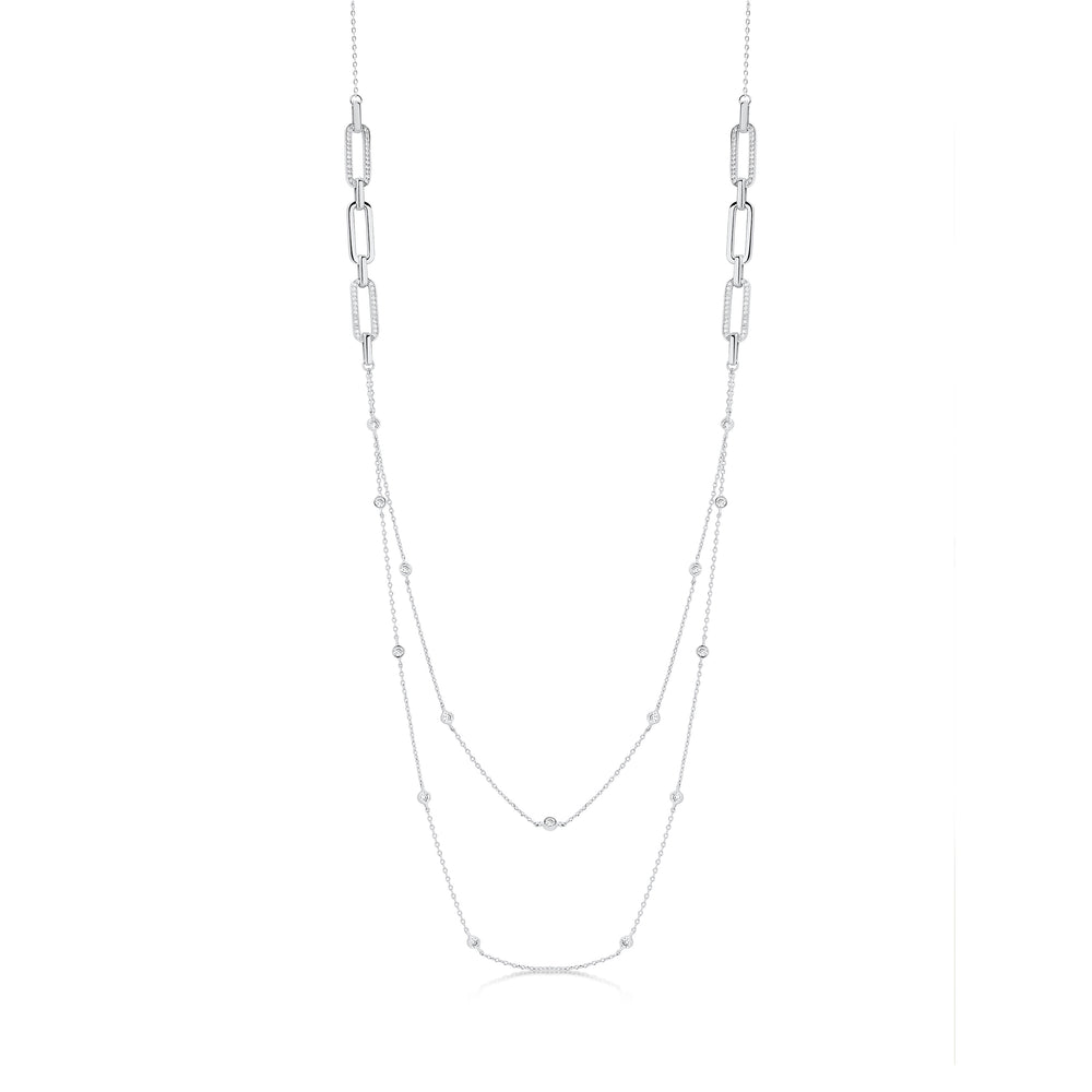 Milly Necklace- Rhodium